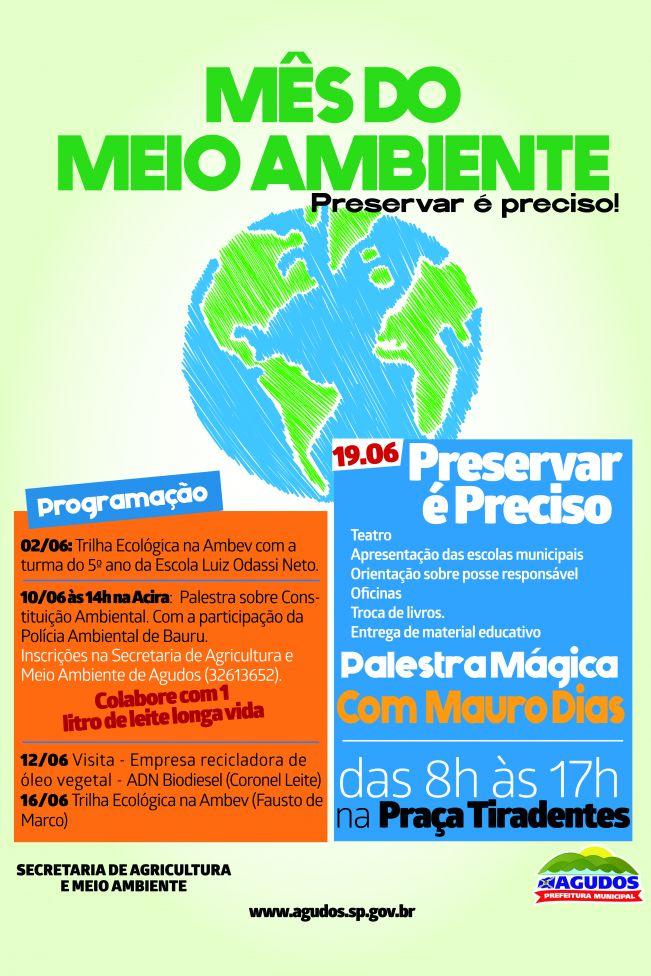 Constituição ambiental é tema de palestra na programação do Mês do Meio Ambiente em Agudos